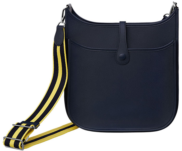 High Quality Fake Cheap Hermes Evelyne III Bag with Striped Shoulder Strap