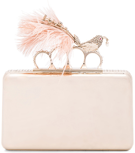 Cheap Chic Replica Alexander McQueen Bird with Pearl Feather Ring Knuckle Case