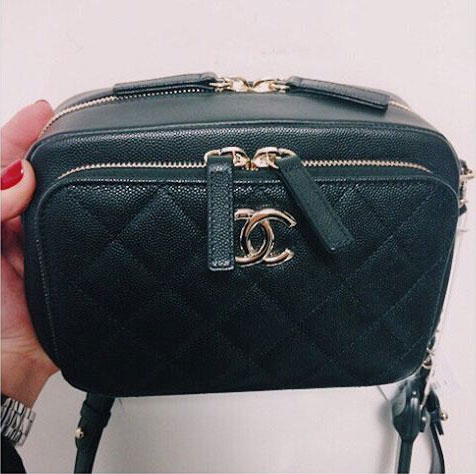 Chanel Quilted Double Zip Camera Case