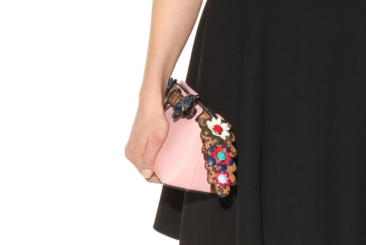 Cheap Copy Fendi Flower By The Way Bag with Croc Leather Tag