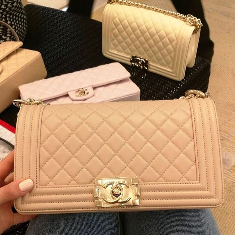 Boy Chanel Beige Quilted bag