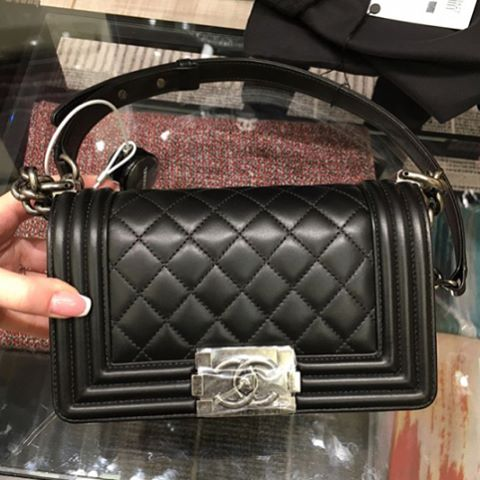 Boy Chanel Black Quilted Bag