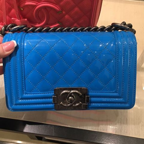 Boy Chanel Blue Quilted Bag