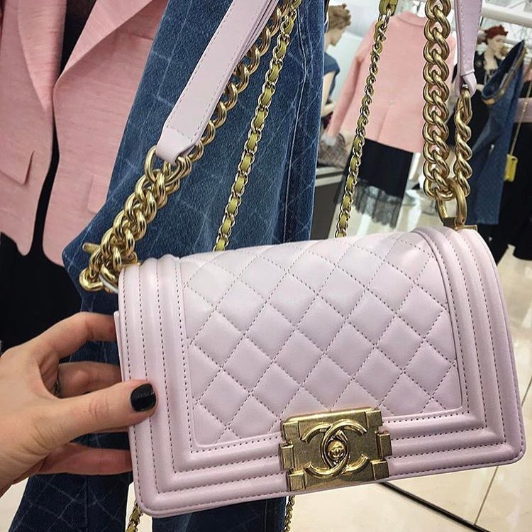 Boy Chanel Pink Quilted Bag