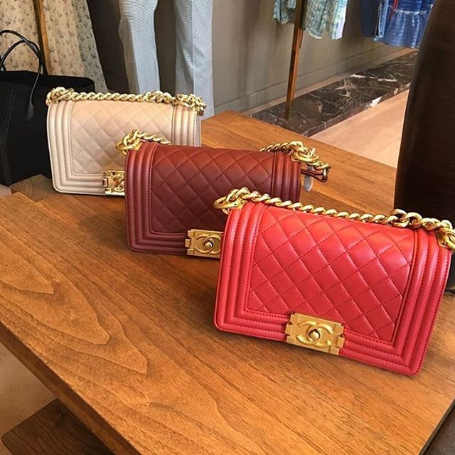 Boy Chanel Red Quilted Bag