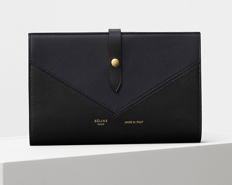 High Quality Replica Celine Large Strap Multifunction in Chevron Wallets For Sale