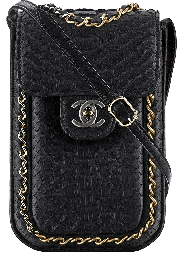 Chanel Extra Mini Python Wallet On Chain Bag