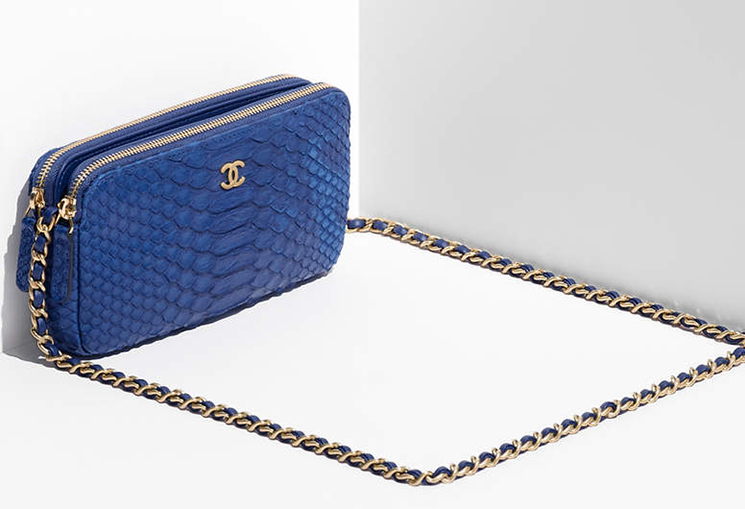 Cheap Chic Replica Chanel Python Small Clutch with Chain