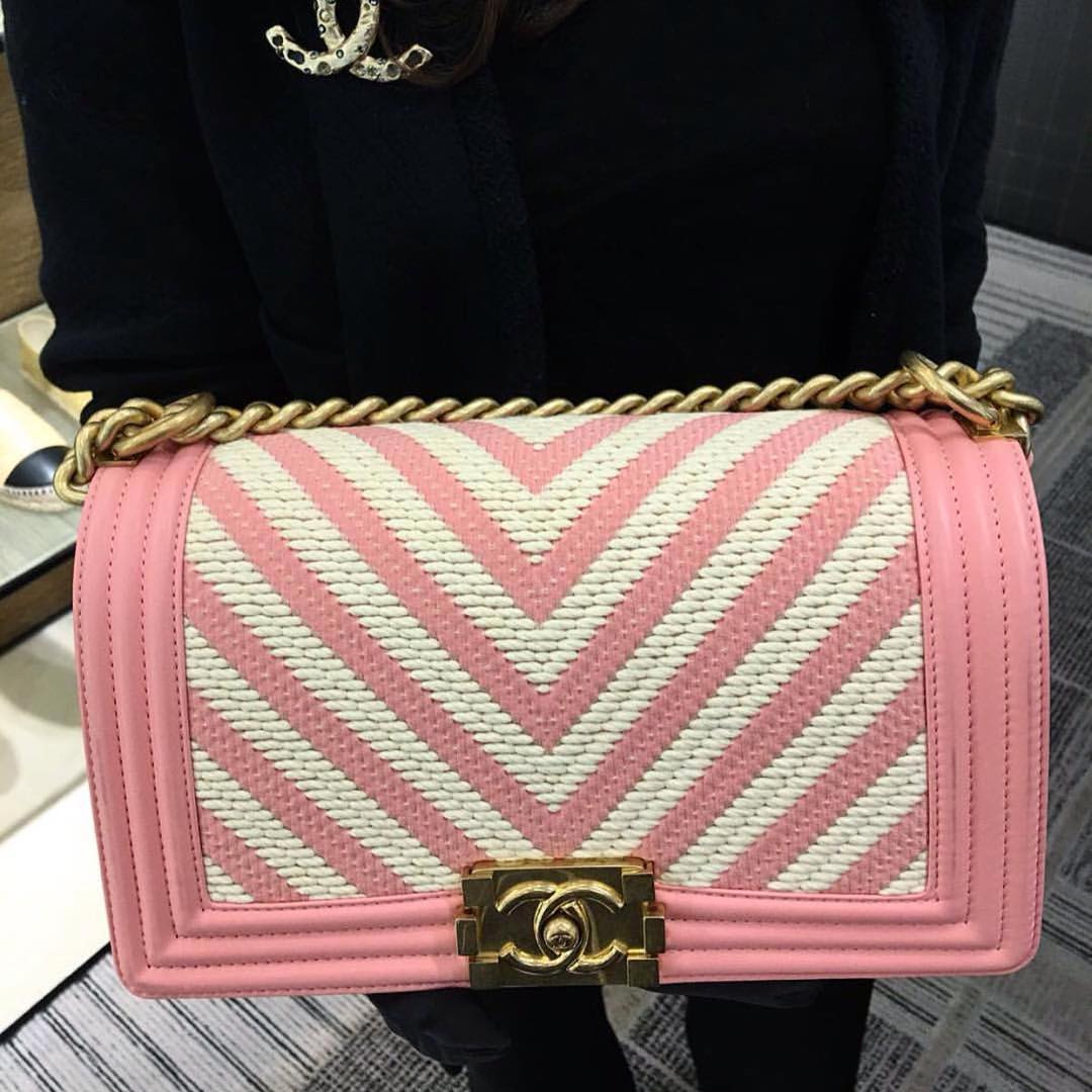 Boy Chanel Braided Chevron Bag