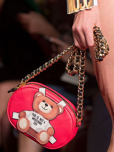 Moschino Teddy Bear Tab Bag